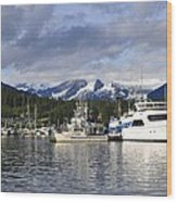 Auke Bay Harbor Wood Print