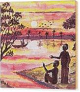 Auld Lang Syne Wood Print