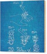 Aull Cigarette Ring Patent Art 1938 Blueprint Wood Print