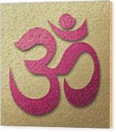 Aum Or Om Symbol Wood Print