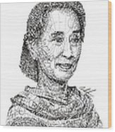 Aung San Suu Kyi Wood Print