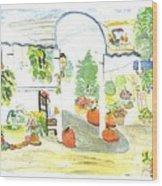 Aunt Helen's Farm Wood Print by Thelma Harcum