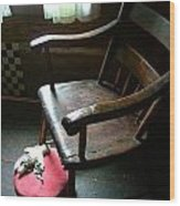 Aunt Tillie's Sewing Chair Wood Print by Julie Dant