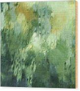 Aurora Borealis Abstract Wood Print