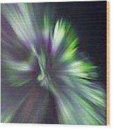 Aurora Borealis Corona Wood Print