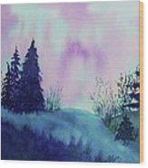 Aurora Borealis I Wood Print