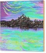Aurora Borealis Poster Wood Print