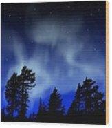 Aurora Borealis Wall Mural Wood Print