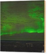 Aurora Flare With Clouds Wood Print