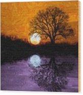 Aurora Goddess Of The Dawn Wood Print