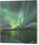 Aurora In Nothern Norway I Wood Print