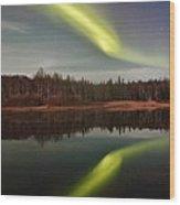 Aurora Reflections Wood Print