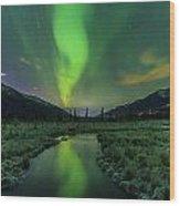 Aurora Valley Wood Print
