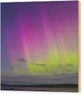 Auroras Over A Lake Wood Print