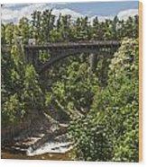 Ausable Chasm Bridge Wood Print