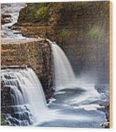 Ausable Chasm Waterfall Wood Print