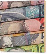 Aussie Dollars 01 Wood Print