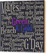 Aussie Lingo Wood Print