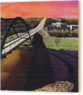 Austin 360 Bridge Wood Print