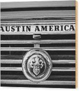 Austin America Grille Emblem -0304bw Wood Print