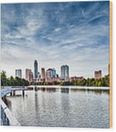 Austin Boardwalk View On Lake Wood Print