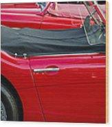 Austin Healey Red Wood Print