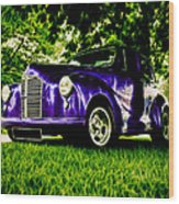 Austin Hot Rod Wood Print by motography aka Phil Clark