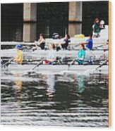 Austin Rowing Wood Print