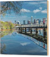Austin Skyline And Lady Bird Lake - Wood Print