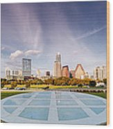 Austin Skyline From The Longs Center For The Performing Arts Wood Print
