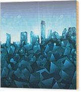 Austin Skyline Geometry 3 Wood Print