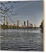 Austin Skyline Wood Print