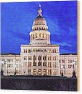 Austin State Capitol Building, Texas - Wood Print