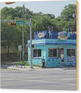 Austin Texas Congress Street Shop Wood Print