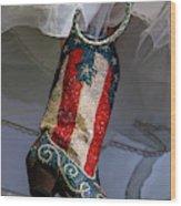 Austin Texas - Red White Blue Sequin Wood Print