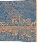 Austin Texas Skyline 2 Wood Print