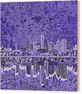 Austin Texas Skyline 4 Wood Print