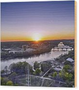 Austin Texas Sunset Hour Wood Print