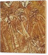 Australia Ancient Aboriginal Art 3 Wood Print
