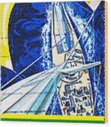 Australia II Americas Cup Yacht Sailboat  Wood Print