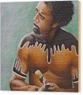 Australian Aboriginal Wood Print by David Hawkes