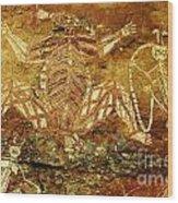 Australia Ancient Aboriginal Art 1 Wood Print