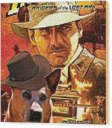 Australian Cattle Dog Art Canvas Print - Indiana Jones Movie Poster Wood Print