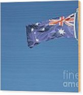 Australian Flag Outdoors Wood Print