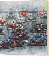 Australian Grand Prix F1 2012 Wood Print