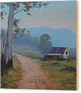 Australian Landscape Lithgow  Wood Print