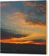 Australian Sunrise Wood Print