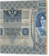 Austria Banknote, 1902 Wood Print