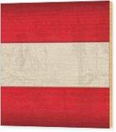 Austria Flag Vintage Distressed Finish Wood Print