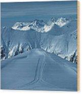 Austria Mountain Ischgl Wood Print